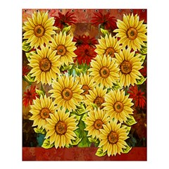 Sunflowers Flowers Abstract Shower Curtain 60  X 72  (medium)  by Nexatart