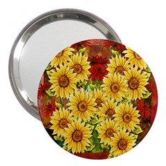Sunflowers Flowers Abstract 3  Handbag Mirrors
