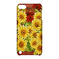 Sunflowers Flowers Abstract Apple Ipod Touch 5 Hardshell Case With Stand