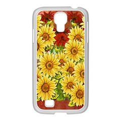 Sunflowers Flowers Abstract Samsung Galaxy S4 I9500/ I9505 Case (white)
