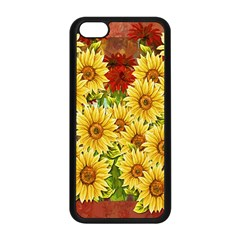 Sunflowers Flowers Abstract Apple Iphone 5c Seamless Case (black)