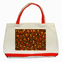 Stylized Background For Scrapbooking Or Other Classic Tote Bag (red)