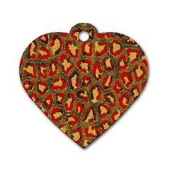 Stylized Background For Scrapbooking Or Other Dog Tag Heart (two Sides)