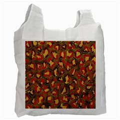 Stylized Background For Scrapbooking Or Other Recycle Bag (one Side) by Nexatart