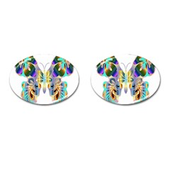 Abstract Animal Art Butterfly Cufflinks (oval) by Amaryn4rt