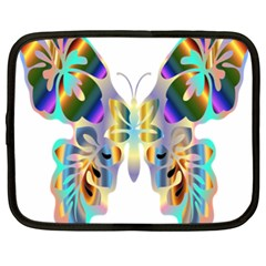 Abstract Animal Art Butterfly Netbook Case (xxl)  by Amaryn4rt