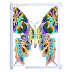 Abstract Animal Art Butterfly Apple Ipad 2 Case (white) by Amaryn4rt