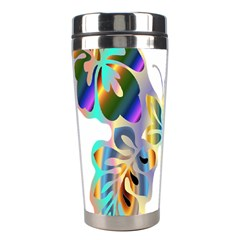 Abstract Animal Art Butterfly Stainless Steel Travel Tumblers by Amaryn4rt