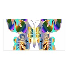 Abstract Animal Art Butterfly Satin Shawl by Amaryn4rt