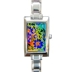 Abstract Background Backdrop Design Rectangle Italian Charm Watch