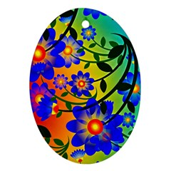 Abstract Background Backdrop Design Ornament (oval)