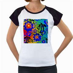 Abstract Background Backdrop Design Women s Cap Sleeve T