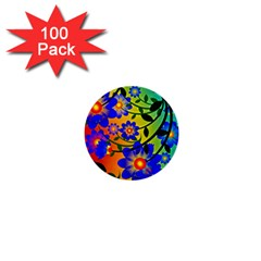 Abstract Background Backdrop Design 1  Mini Buttons (100 Pack)  by Amaryn4rt