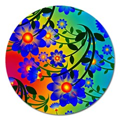 Abstract Background Backdrop Design Magnet 5  (round)
