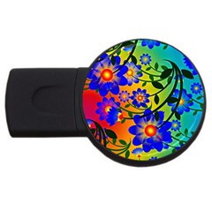 Abstract Background Backdrop Design Usb Flash Drive Round (2 Gb) by Amaryn4rt