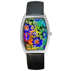 Abstract Background Backdrop Design Barrel Style Metal Watch by Amaryn4rt