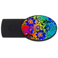 Abstract Background Backdrop Design Usb Flash Drive Oval (4 Gb) by Amaryn4rt