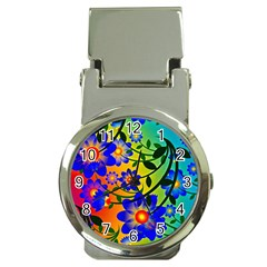 Abstract Background Backdrop Design Money Clip Watches by Amaryn4rt