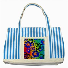 Abstract Background Backdrop Design Striped Blue Tote Bag by Amaryn4rt