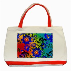Abstract Background Backdrop Design Classic Tote Bag (red)