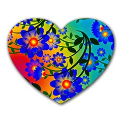 Abstract Background Backdrop Design Heart Mousepads by Amaryn4rt