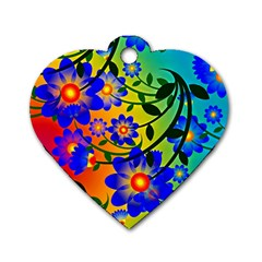Abstract Background Backdrop Design Dog Tag Heart (one Side)