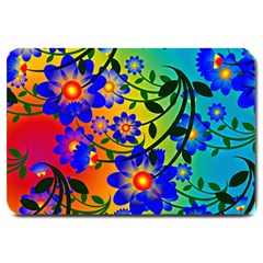 Abstract Background Backdrop Design Large Doormat  by Amaryn4rt