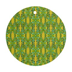 Ornate Modern Noveau Round Ornament (two Sides) by dflcprints
