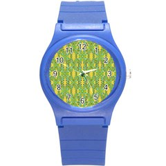 Ornate Modern Noveau Round Plastic Sport Watch (s) by dflcprints