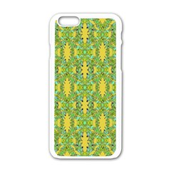 Ornate Modern Noveau Apple Iphone 6/6s White Enamel Case by dflcprints