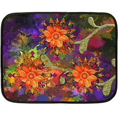 Abstract Flowers Floral Decorative Fleece Blanket (mini)