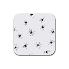 Animals Arachnophobia Seamless Rubber Square Coaster (4 Pack)  by Amaryn4rt