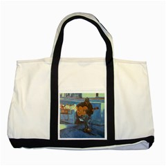 Man And His Guitar Two Tone Tote Bag by theunrulyartist