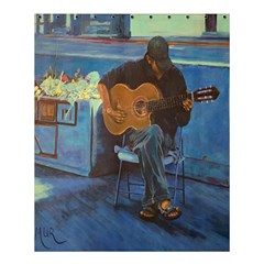 Man And His Guitar Shower Curtain 60  X 72  (medium)  by theunrulyartist