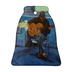 Man And His Guitar Bell Ornament (two Sides) by theunrulyartist