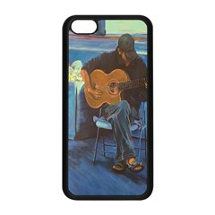 Man And His Guitar Apple Iphone 5c Seamless Case (black) by theunrulyartist