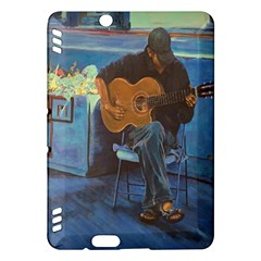 Man And His Guitar Kindle Fire Hdx Hardshell Case by theunrulyartist