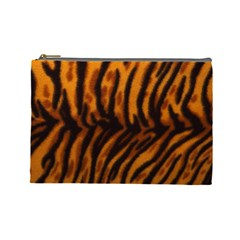 Animal Background Cat Cheetah Coat Cosmetic Bag (large)  by Amaryn4rt
