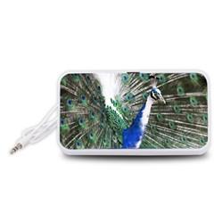 Animal Photography Peacock Bird Portable Speaker (white) by Amaryn4rt