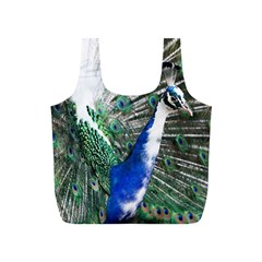 Animal Photography Peacock Bird Full Print Recycle Bags (s)  by Amaryn4rt