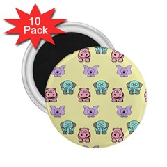 Animals Pastel Children Colorful 2 25  Magnets (10 Pack)  by Amaryn4rt