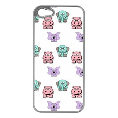 Animals Pastel Children Colorful Apple Iphone 5 Case (silver) by Amaryn4rt