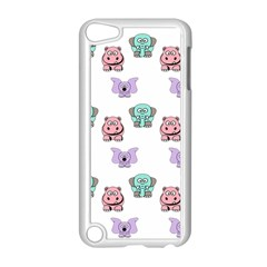 Animals Pastel Children Colorful Apple Ipod Touch 5 Case (white) by Amaryn4rt