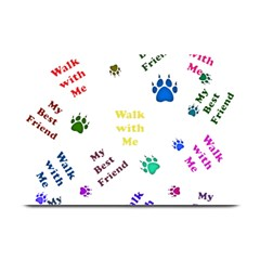 Animals Pets Dogs Paws Colorful Plate Mats by Amaryn4rt