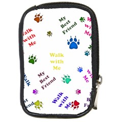 Animals Pets Dogs Paws Colorful Compact Camera Cases by Amaryn4rt