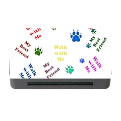 Animals Pets Dogs Paws Colorful Memory Card Reader with CF by Amaryn4rt