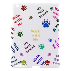 Animals Pets Dogs Paws Colorful Apple Ipad 3/4 Hardshell Case (compatible With Smart Cover) by Amaryn4rt