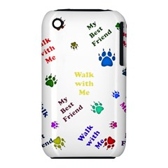 Animals Pets Dogs Paws Colorful Iphone 3s/3gs by Amaryn4rt