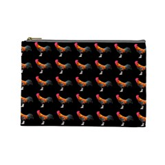 Background Pattern Chicken Fowl Cosmetic Bag (large)  by Amaryn4rt