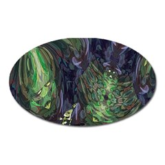 Backdrop Background Abstract Oval Magnet by Amaryn4rt